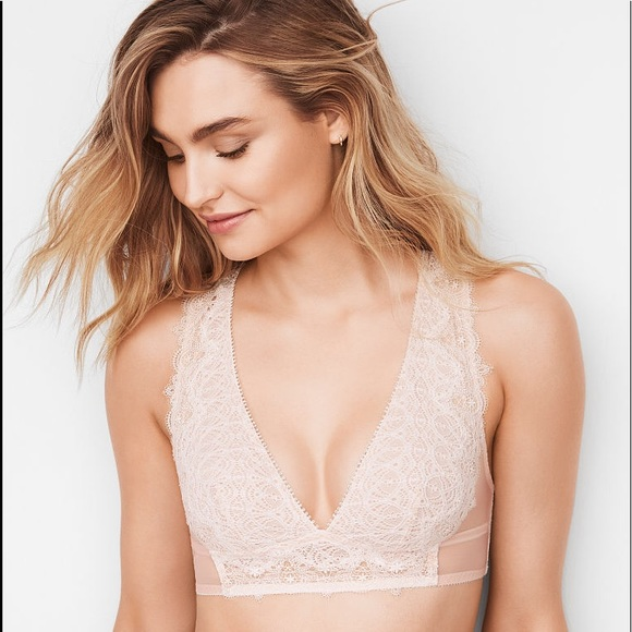c691483c54 Victorias Secret DREAM ANGELS Lace Plunge Bralette